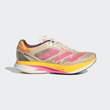 Running Beige Adizero Adios Pro 2 Shoes