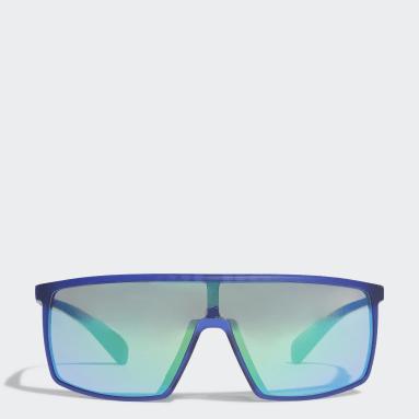 Lunettes de soleil SP0004 Shiny Black Injected Sport Bleu Padel Tennis