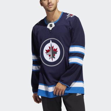 Maillot Domicile Jets Authentique Bleu Hommes Hockey