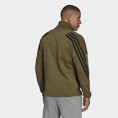 Felpa adidas Sportswear Future Icons Winterized Quarter-Zip Verde Uomo Sportswear