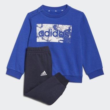 Completo felpa e pantaloni adidas Essentials Blu Bambini Sportswear