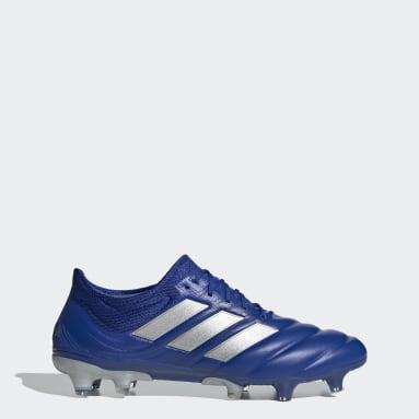 Bota de fútbol Copa 20.1 césped natural seco Azul Mujer Fútbol