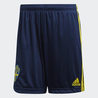 синий Домашние шорты сборной Швеции