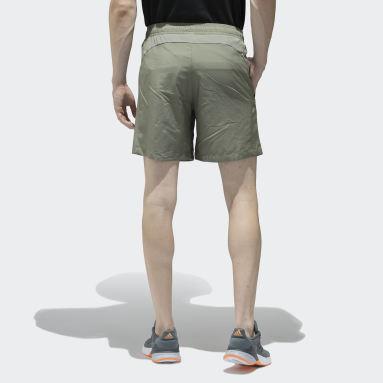 Men Sport Inspired Green Woven Shorts