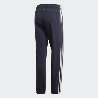 Pantalón Essentials 3 Rayas Felpa Azul Hombre Diseño Deportivo