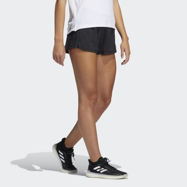 Women's Training Black Pacer 3-Stripes Woven Heather Shorts