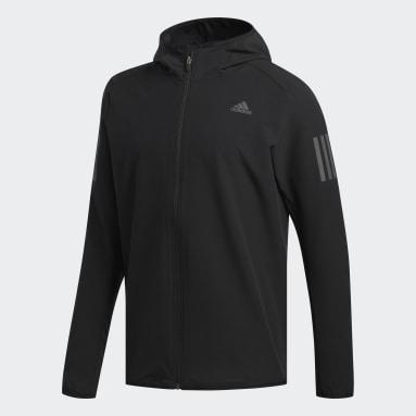 Chaqueta con capucha Response Negro Hombre Running