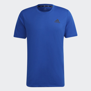 Heren Fitness En Training Blauw AEROREADY Designed 2 Move Sport T-shirt