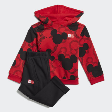 Boys Gym & Training Red Mickey Mouse Jogger Set