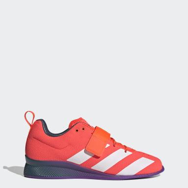 Weightlifting Orange Adipower Weightlifting II Shoes