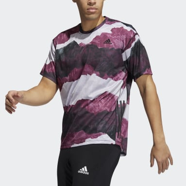 Männer Studio Earth Graphic Yoga T-Shirt Schwarz