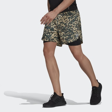 Men Running Black Fast Two-in-One Primeblue Graphic Shorts