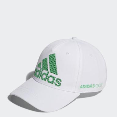 Men Golf White Badge of Sport Logo Cap