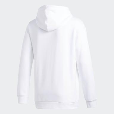 Blusa Capuz Trefoil Branco Homem Originals