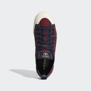 Kvinder Originals Rød Nizza RF Platform Mid sko