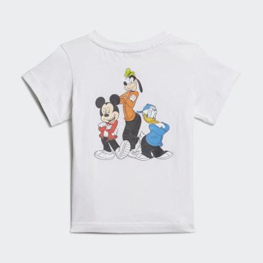T-shirt Disney Mickey and Friends Blanc Enfants Originals