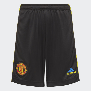 Youth 8-16 Years Football Black Manchester United 21/22 Third Shorts