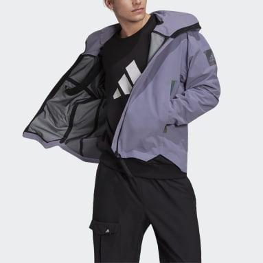 Men's Mountain Biking Purple MYSHELTER Rain Jacket