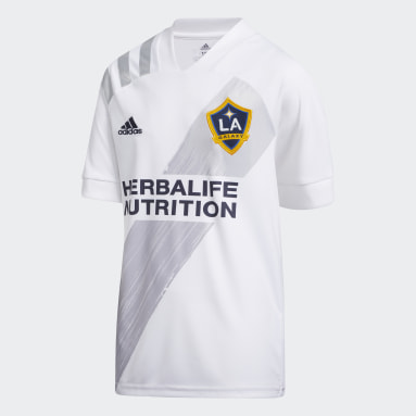 Youth Soccer White LA Galaxy Home Jersey