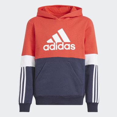 Sweat-shirt à capuche adidas Colorblock Bleu Garçons Sportswear