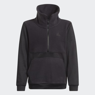 Haut Designed to Move Fleece Half Zip (Non genré) Noir Enfants Fitness Et Training