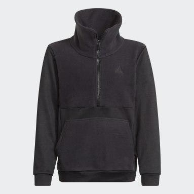 Děti Cvičení A Trénink černá Top Designed to Move Fleece Half Zip (unisex)