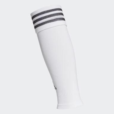 Cañas de compresión (UNISEX) Blanco Fútbol