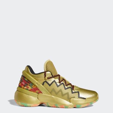 Sapatos Gummy D.O.N. Issue #2 Dourado Basquetebol