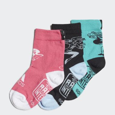 Děti Sports zelená Ponožky Disney Princesses Primegreen - 3 páry