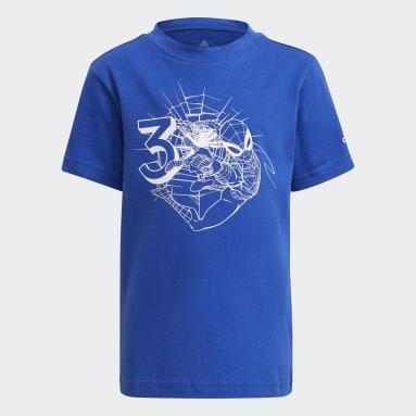 Camiseta adidas x Marvel Avengers Azul Meninos Training