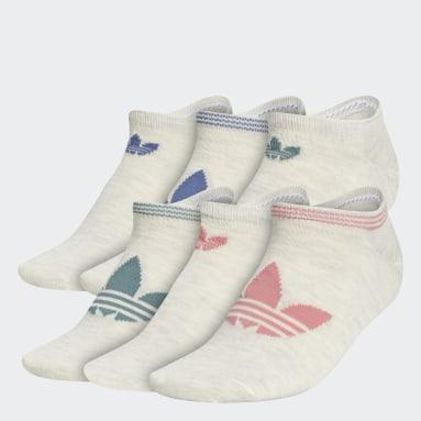 Women Originals Beige Trefoil Superlite No-Show Socks 6 Pairs