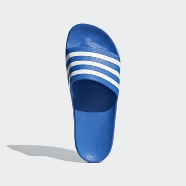 Women Swimming Blue Adilette Aqua Slides
