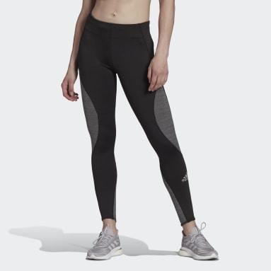 Women Running Black Fast Running Primeblue Leggings