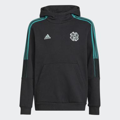 Sweat-shirt à capuche Celtic FC Tiro Noir Enfants Football