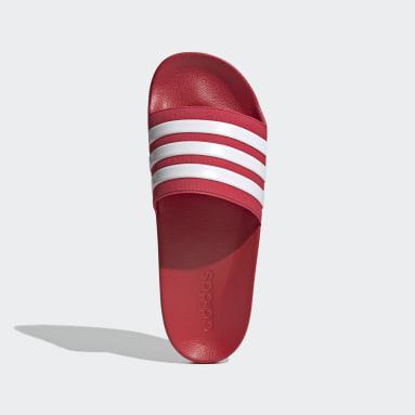 ผู้ชาย ว่ายน้ำ สีแดง รองเท้าแตะ Adilette Shower