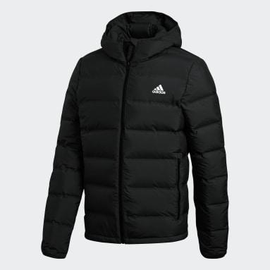 Men City Outdoor Black Helionic Hooded Down Jacket