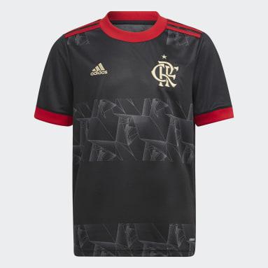Camisa 3 CR Flamengo 21 Infantil Preto Meninos Futebol