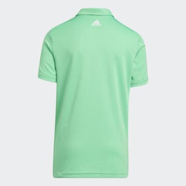 Kluci Golf zelená Polokošile 3-Stripes