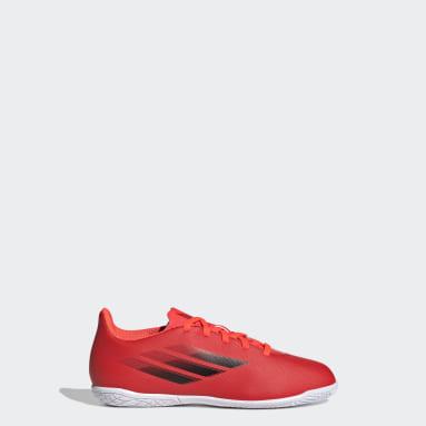 Calzado de Fútbol X Speedflow.4 Cancha Cubierta Rojo Niño Fútbol