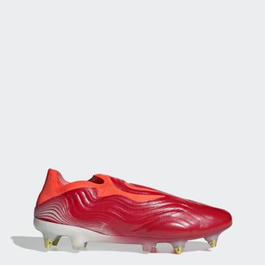 Futbal červená Kopačky Copa Sense+ Soft Ground