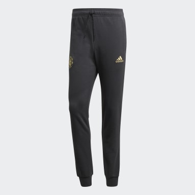 Men Football Grey Manchester United CNY Sweat Tracksuit Bottoms