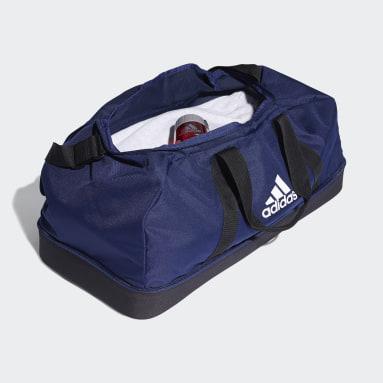 Football Blue Tiro Primegreen Bottom Compartment Duffel Bag Large