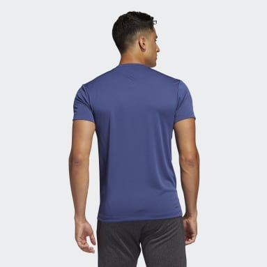 Camiseta AEROREADY 3 bandas Azul Hombre HIIT