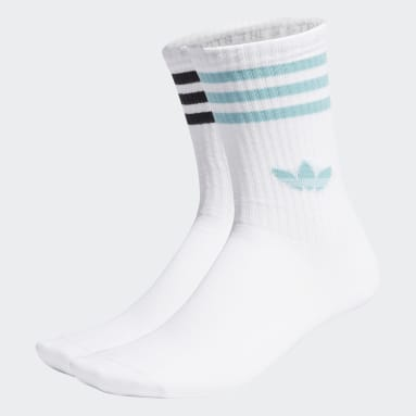 Originals Flower Mid-Cut Crew Socken, 2 Paar Weiß