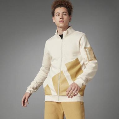 Heren Sportswear Wit Logo Fleece Jack