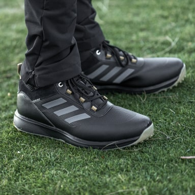 Men's Golf Black S2G Recycled Polyester Mid-Cut Golf Shoes