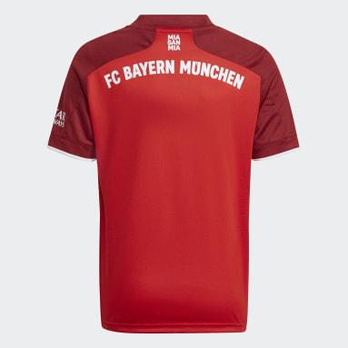 Kinder Fußball FC Bayern München 21/22 Heimtrikot Rot