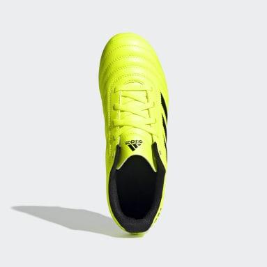 Calzado de Fútbol Copa 19.4 Terreno Firme Amarillo Niño Fútbol