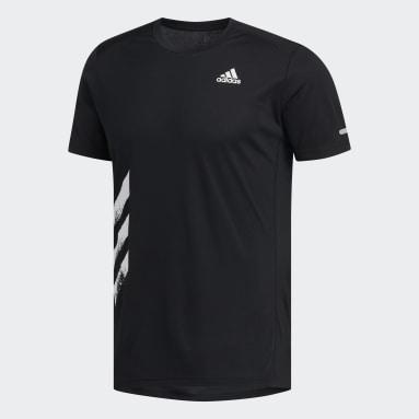 Camiseta para correr Run It 3 Rayas PB Negro Hombre Running