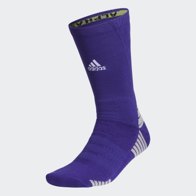 Training Purple Alphaskin Maximum Cushioned Crew Socks
